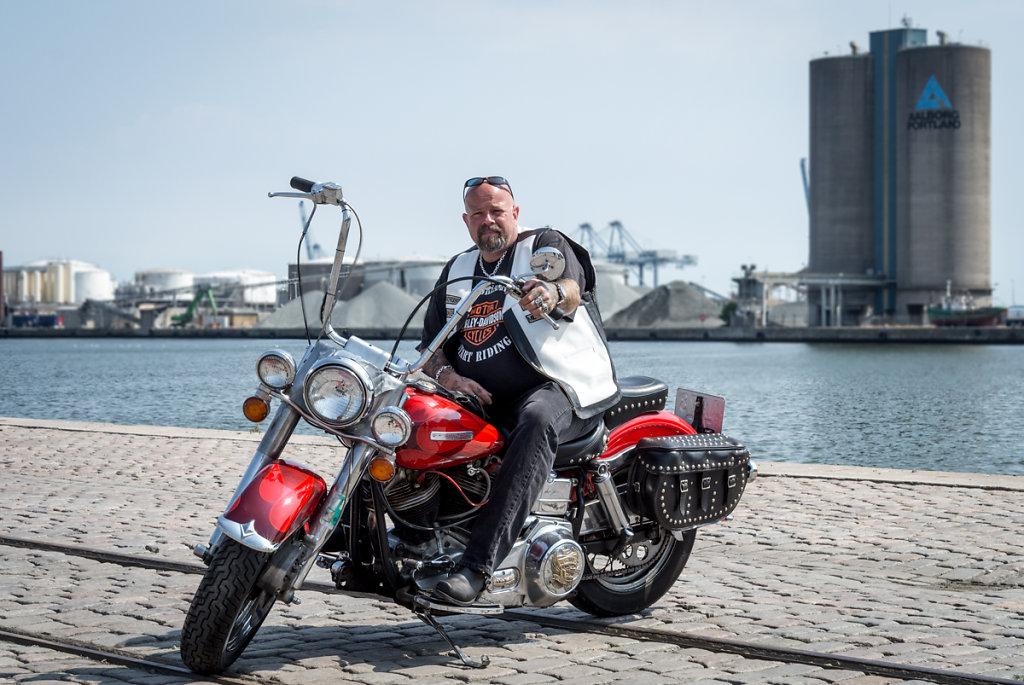 Allan on his Harley